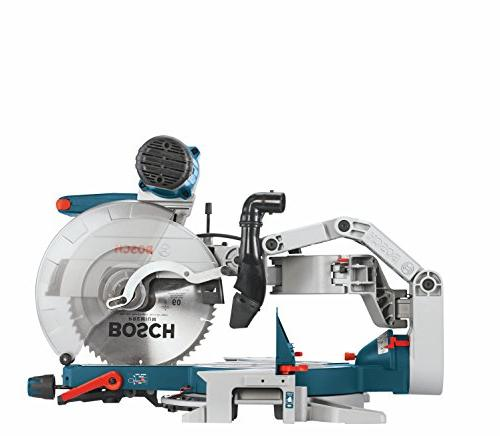 GCM12SD - 120-Volt, Dual Glide Saw Saw with Woodworking Tools and Accessories Radial Arm Saw For Carpentry, Carpenter, Worker
