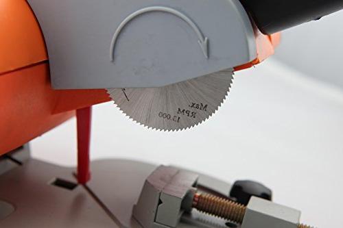 Mini Cut-off Saw Steel Blade Metal Wood Adjust Gauge for