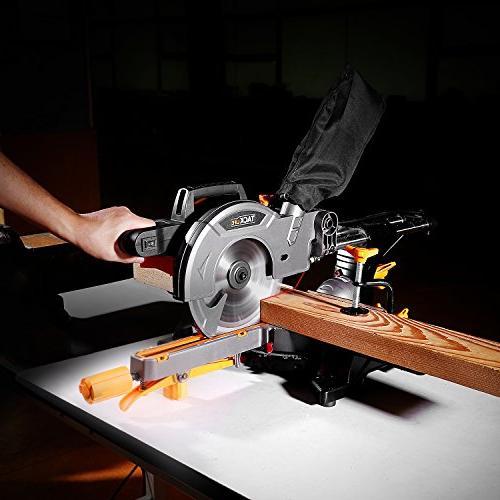 Miter Saw TACKLIFE 12.5-Amp 8-1/2'' Single-Bevel Compound Saw, 10feet Length, Aluminum