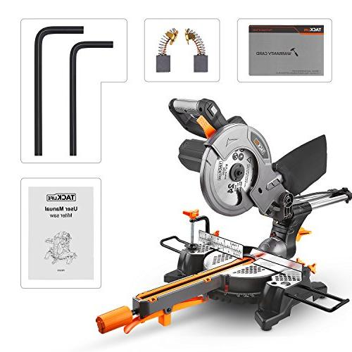 Miter with TACKLIFE Single-Bevel Compound Sliding Saw, Stroke Length, 10feet Core Lightweight Aluminum