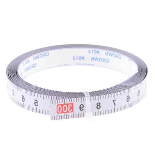 3.3yd Adhesive Tape Measure, Metric Miter Steel L-R