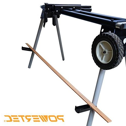 POWERTEC Deluxe Miter Saw with and 110V Power Outlet