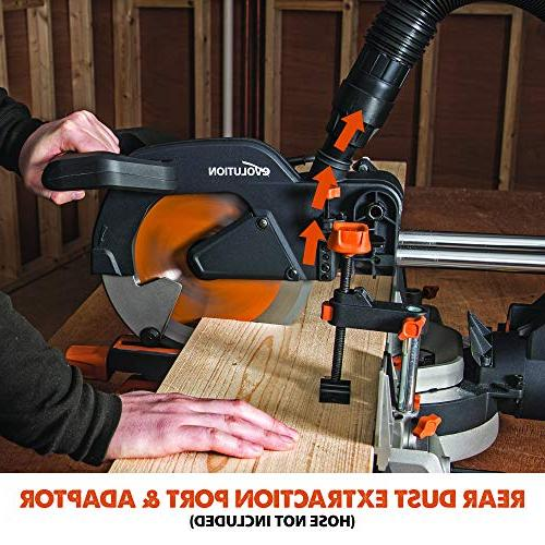 "Evolution Power Tools 10"" Multi-Material Sliding Miter Saw"