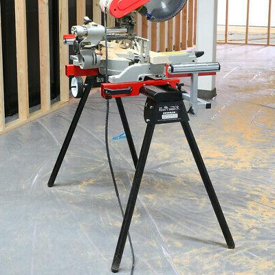 Miter Saw Stand Rolling 3 Outlets Universal Sturdy