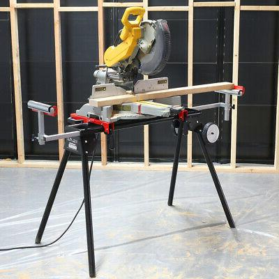 Miter Saw compound Stand Rolling w 3 Onboard Outlets Univers