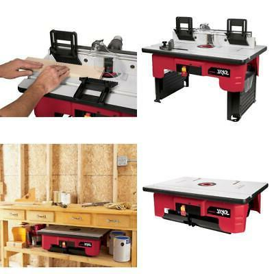 router table folding leg tall fence quick