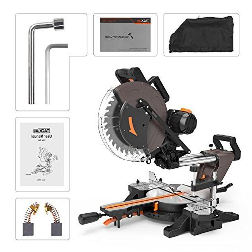 Sliding Miter Saw, 12inch Double-Bevel Miter with Adjustable Table, 3800rpm, M 40T