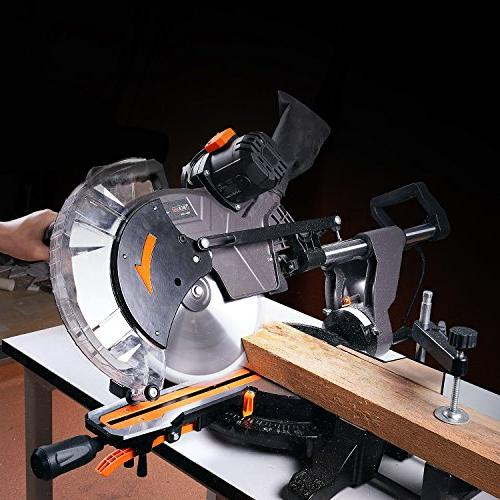 Sliding Miter with Adjustable Table, Clamping M 40T Blade for