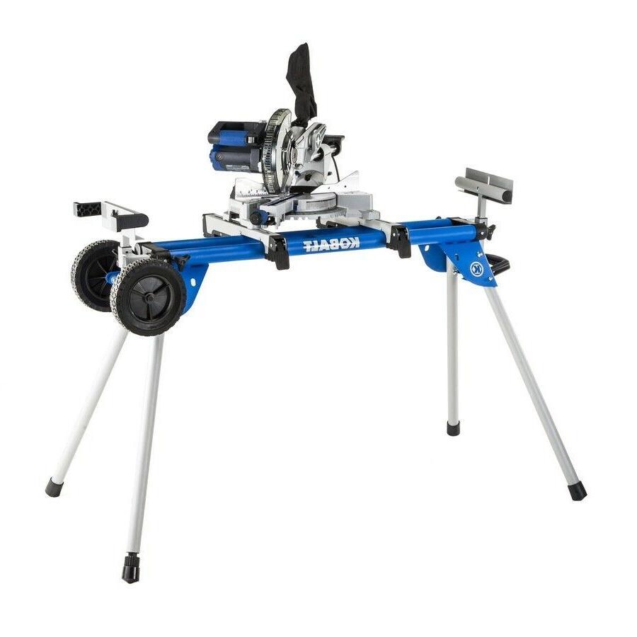 Kobalt Steel Adjustable Rolling Universal 8 ft Miter Saw Sta