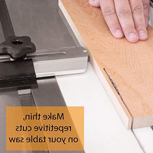Thin Jig, Repetitive Cuts on Your Saw. Also works Router Tables and