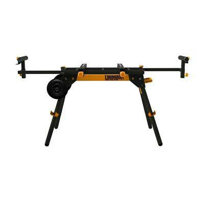 universal miter saw stand collapsible rolling portable