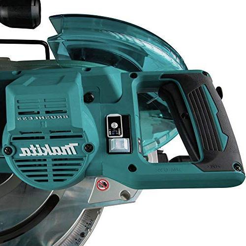"Makita XSL04PTU 18V LXT Brushless 10"" Dual-Bevel Miter AWS and Laser"