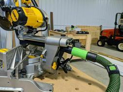 locking hose adapter for dewalt miter saw