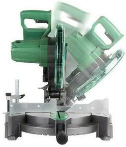"Hitachi Miter Saw 10"" in 15-Amp Single Bevel Compound Milter"