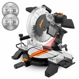 Miter Saw, Tacklife 15Amp 12inch Single Bevel Saw with 13ft/