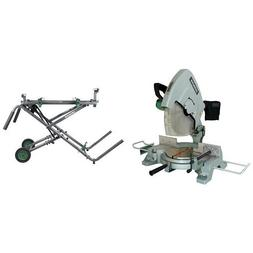 Hitachi 15-Amp 15-Inch Miter Saw with  Fold and Roll Heavy-D