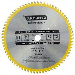 "Miter Saw Blade 12"" Carbide Tipped 72 Teeth Aluminum Non Fer"