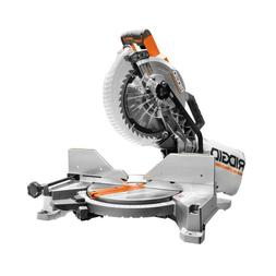 Ridgid Miter Saw Dual Bevel Quick Release Sliding Cutline In