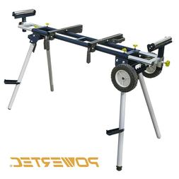 Miter Saw Stand Deluxe with Wheels and 110V Power Outlet