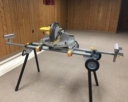 Miter Saw Stand Heavy Duty Mobile Folding Portable Adjustabl