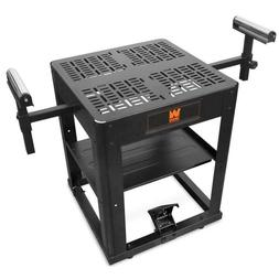Multi-Purpose Rolling Planer and Miter Saw Tool Stand with E
