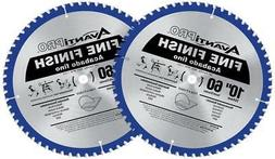 "New 2-Pack Avanti Pro 10"" Saw Blade 60-Tooth Carbide Fine Fi"