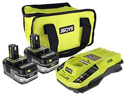 Ryobi P165 One+ Lithium Ion Battery and Charging Kit: Includ