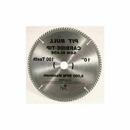 Pit Bull 10 Inch 100 Tooth Carbide Circular / Miter Saw Blad