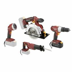 Chicago Electric Power Tools Durable 18 Volt Cordless 4 Tool