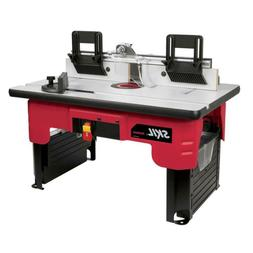 Skil Router Table w Folding Leg Tall Fence Quick Clamp Acces