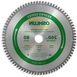Oshlun SBFT-260080 260mm 80 Tooth FesPro Crosscut ATB Saw Bl