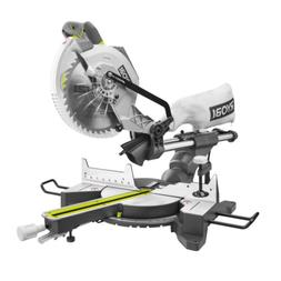 SLIDING COMPOUND MITER SAW 15 Amp 10 in. Ryobi Chop Saw LED