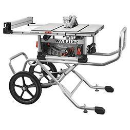 """spt99-11 10"""" heavy duty worm drive table saw with stand, sil"""