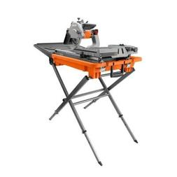"Ridgid 8"" tile and paver saw with stand and laser"