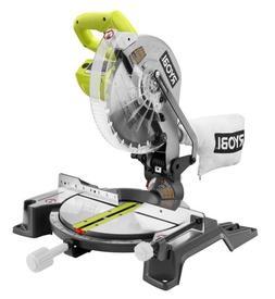 RYOBI TS1345L 14 AMP Compound Miter Saw- 10 In. Blade, W/ La