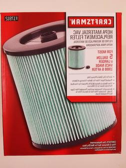 Craftsman 9-17912 Wet Dry Vacuum Filter with High Efficiency